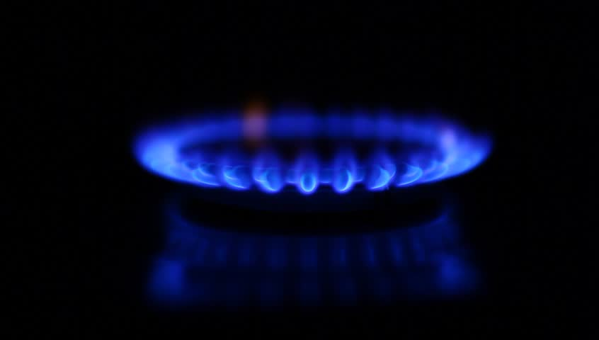 Gas Stove On The Black Background Stock Footage Video