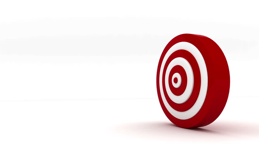 Bull S Eye 3d Animation Of Two Arrows Both Hitting