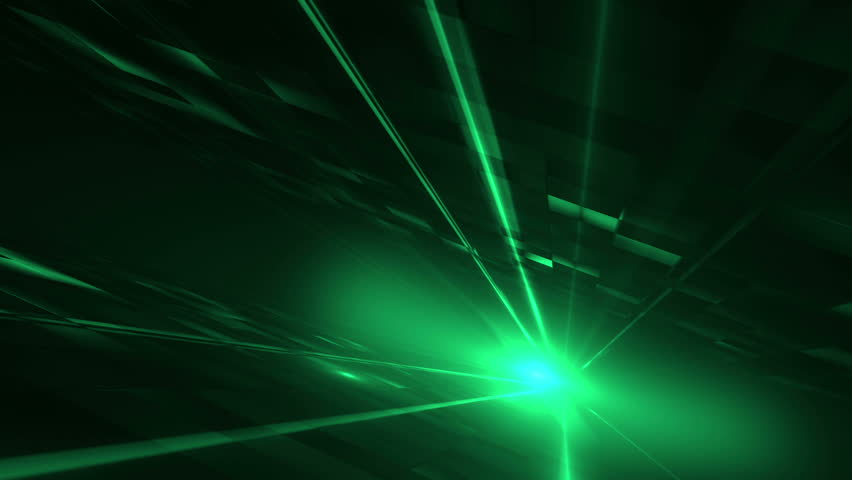Abstract Green Light Tunne - HD stock video clip