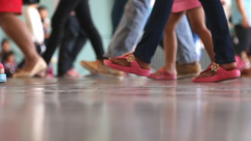 Feet walking in city | Shutterstock HD Video #5436935