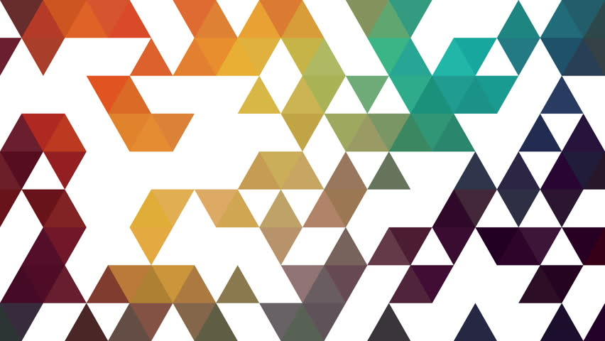 Triangles Hipster Animation Retro Pattern Of Geometric
