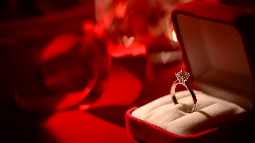 Diamond Ring. Valentine's Day Gift. Marriage Proposal ...