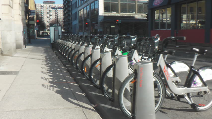 MONTREAL - JANUARY 20, 2014: Bixi bike rentals the Montreal based company has applied for protection from its creditors, owes $50M. Bixi provides rental bikes in Ottawa, New York and Chicago.