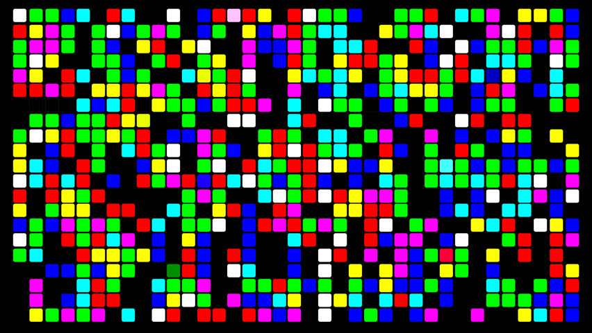Colorfull pixels with random colors, full HD