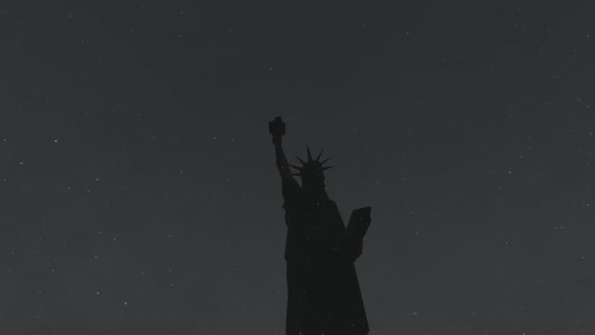 Snow and Statue of Liberty  | Shutterstock HD Video #5482178