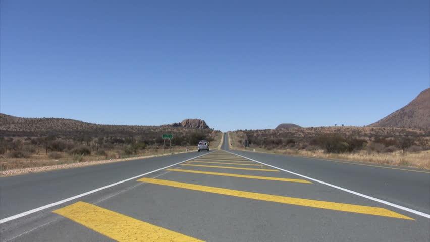 Road of Namib Desert, Namibia - HD stock footage clip