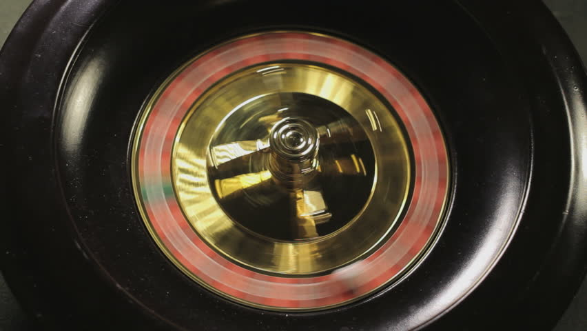 Roulette wheel spinning - HD stock footage clip