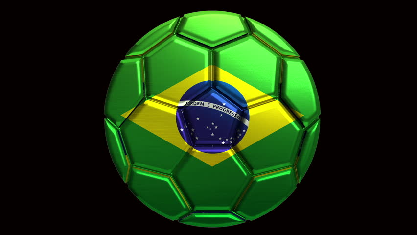 Brazil soccer ball with alpha clip to make any background