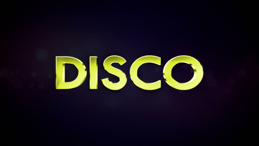Disco Text in Particles | Shutterstock HD Video #5599349