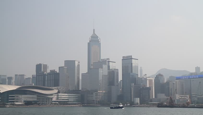 HONG KONG - CIRCA 2014: Hong Kong Skyline, nice sunny day. | Shutterstock HD Video #5605766