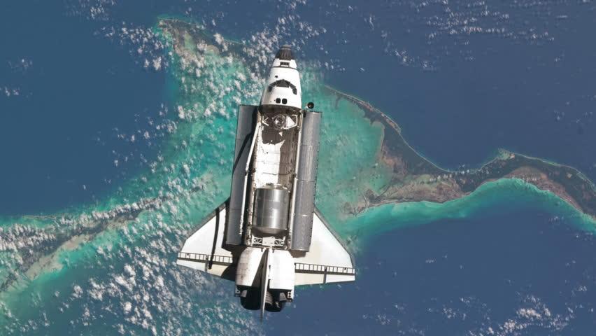 Space Shuttle Orbiting Earth in 4K