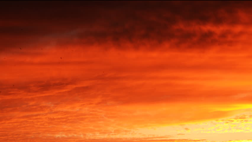 4K Time Lapse of Burning Sky at Sunset Afterglow