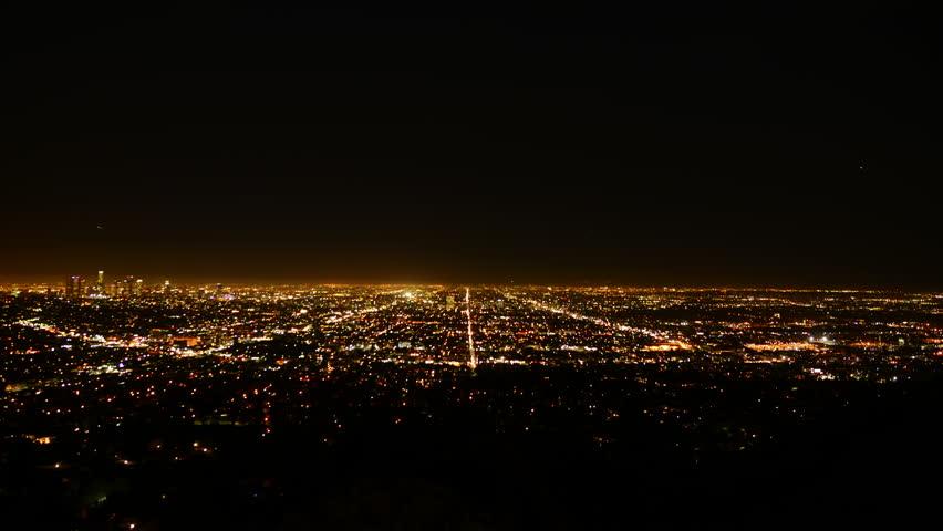 Los Angeles Night View 04 Timelapse Traffic   Shutterstock HD Video #5635646