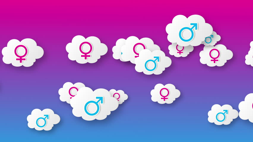Clouds with gender symbol animation. For more variations of this footage please visit my portfolio. - HD stock footage clip
