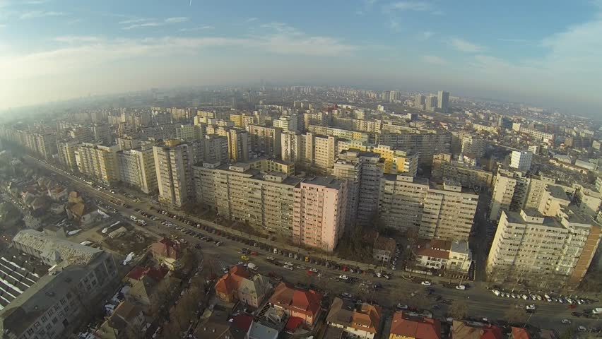 Aerial view of Bucharest, Romania, shot from a drone | Shutterstock HD Video #5720363