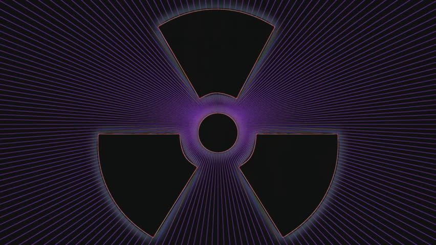 nuclear radiation weapon symbol stock footage video