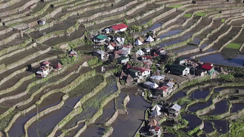 The world heritage Rice terraces in Batad, northern Luzon, Infugao province Philippines.
