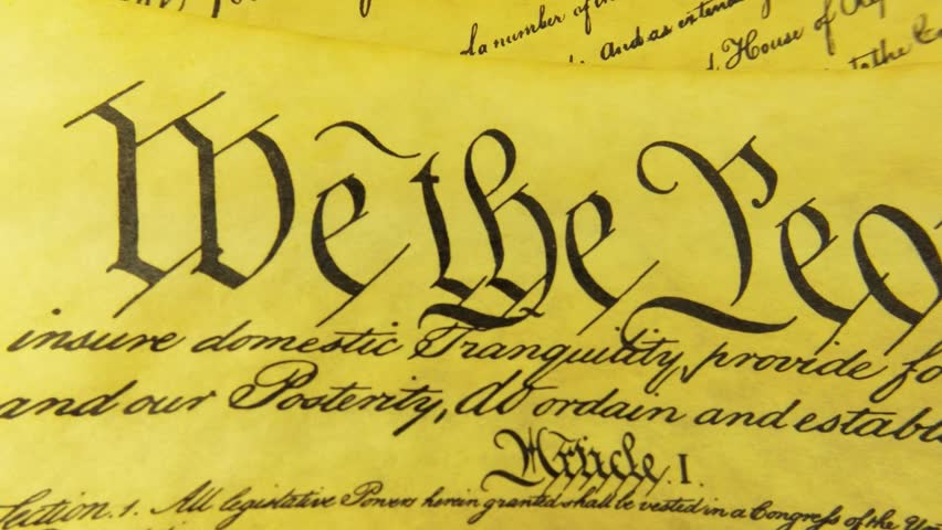 Historical Document US Constitution - We The People