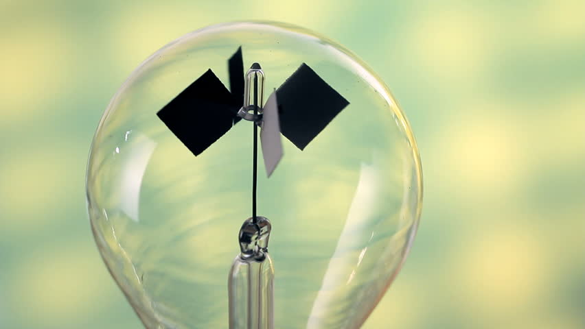 Radiometer shows the science of light and heat energy transfer - HD stock video clip