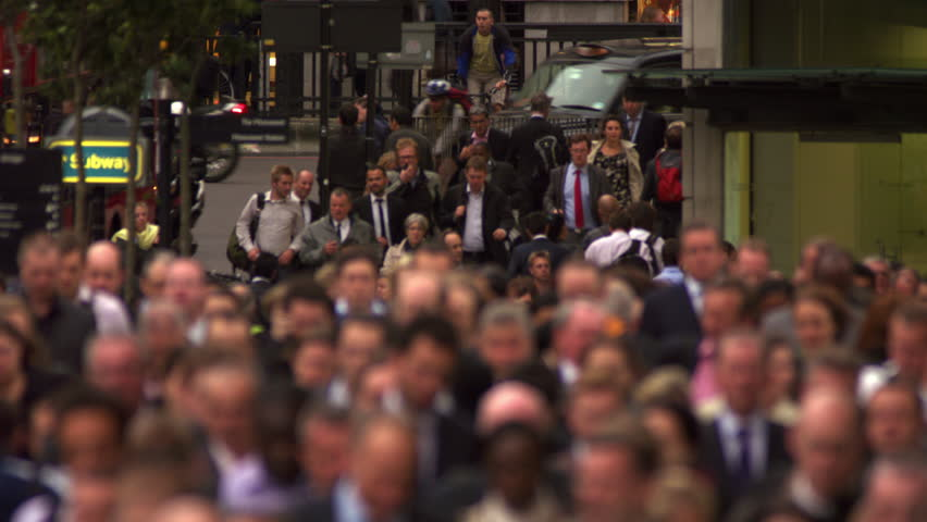 LONDON, UK - OCTOBER 10, 2011: Street rush hour in London