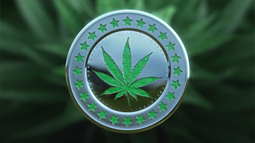Official crypto-currency of legalize marijuana movement. Rotating, loopable.