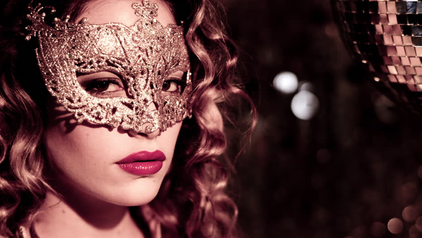 beautiful sexy female with venetian carnival mask. Useful for parties, clubs and events