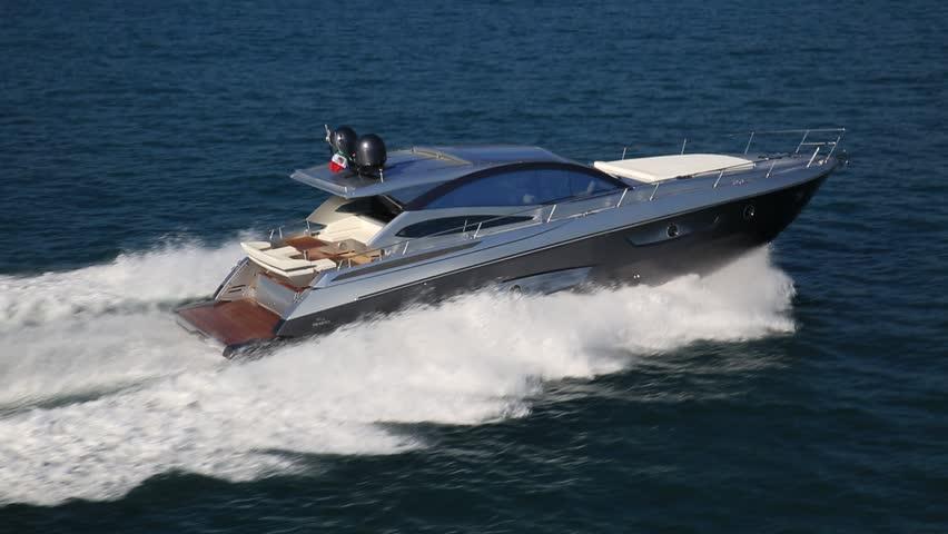 Motor Boat Rio Yachts Best Italian Yacht Stock Footage