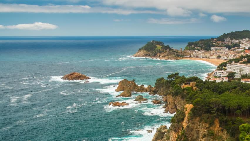 View over Tossa de Mar town on Costa Brava, Spain
