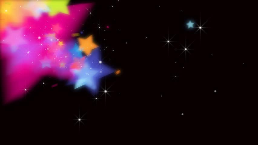 Particle Color Star Camera move