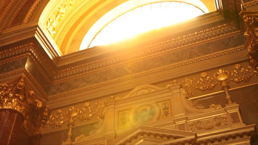Sun window church Budapest Canon mark II - HD stock video clip
