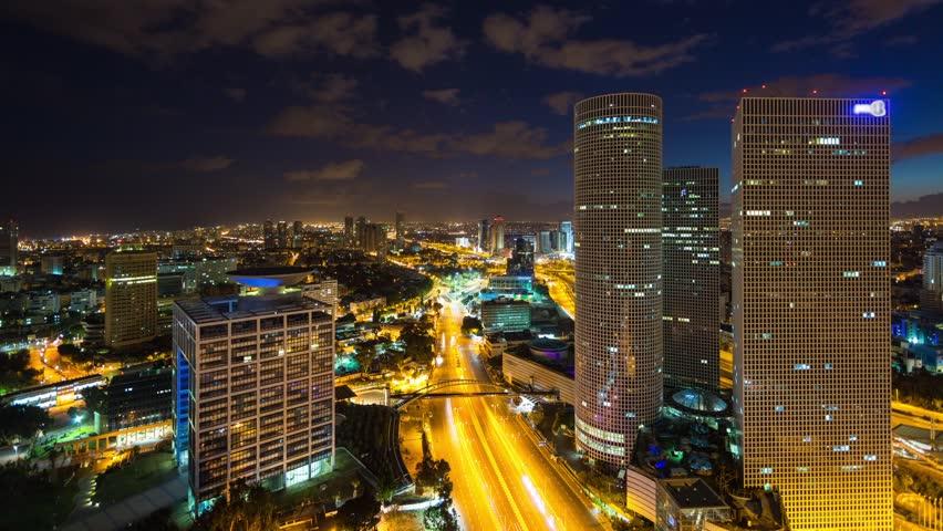 Tel Aviv Hd: Tel Aviv Aerial View Time Lapse
