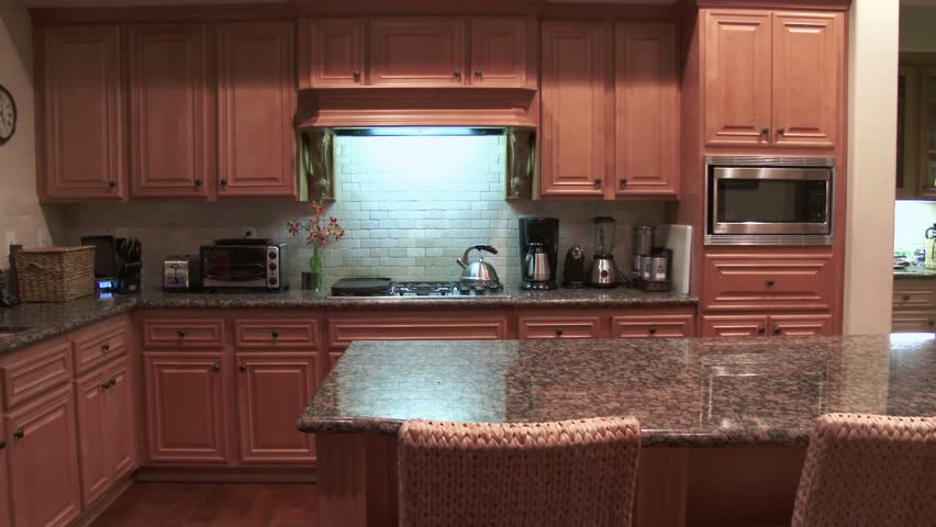 Modern House Interior-kitchen nd Dining oom Stock Footage Video ... - ^