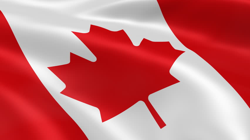 Flag Of Canada Waving In The Wind - Very Highly Detailed ...