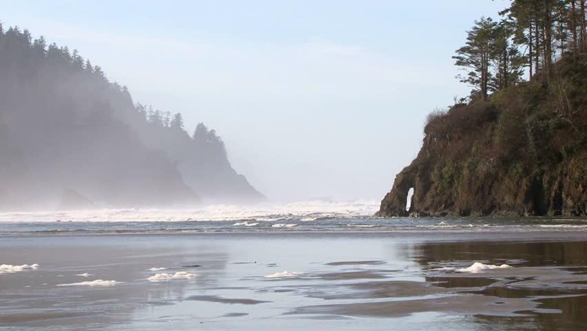 Proposal Rock scenic at the Oregon Coast, Pacific Ocean.