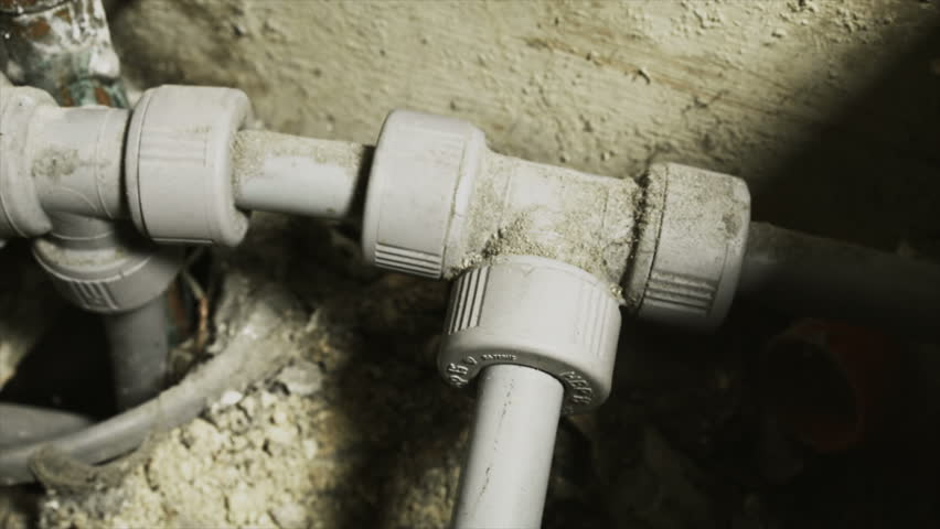 House hold water pipe and plumbing UHD Stock Footage. A close up dolly shot of house hold water pipes with plastic and copper materials, filmed on the Arri Alexa in Ultra High Definition.