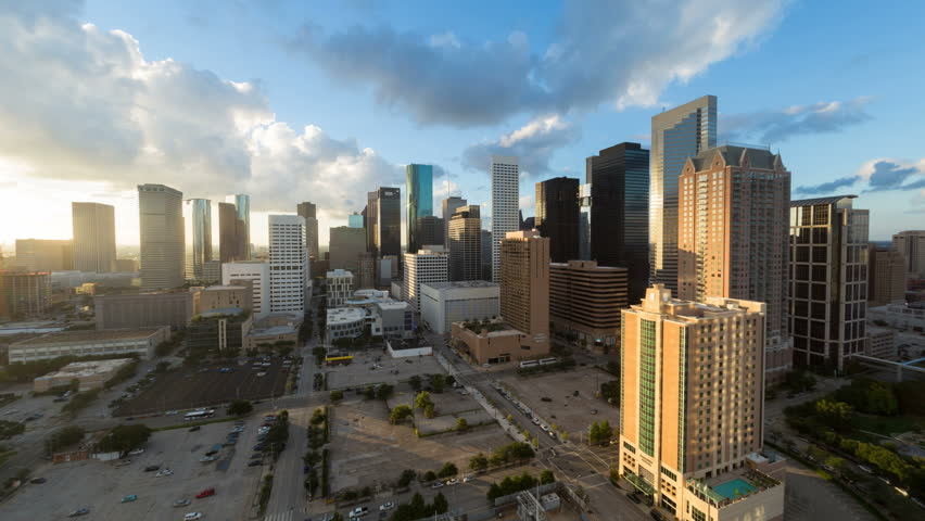 HOUSTON - CIRCA NOVEMBER 2013: Houston, Texas, USA, city skyline, day to night | Shutterstock HD Video #6049808