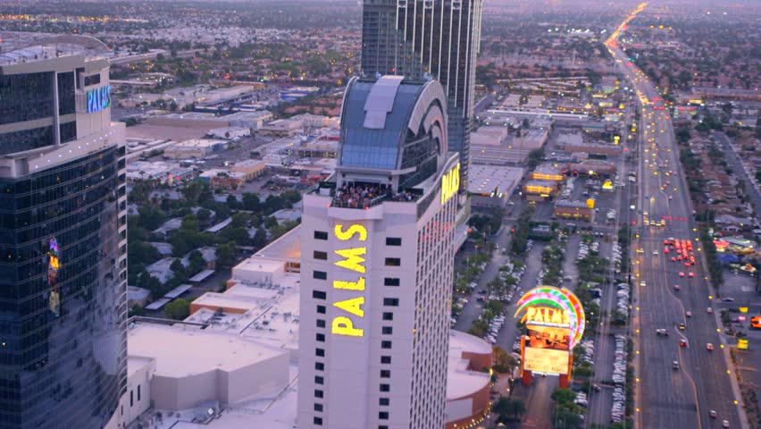 LAS VEGAS, NEVADA, CIRCA 2013 - Aerial view of the Palms in Las Vegas, Nevada. - HD stock video clip