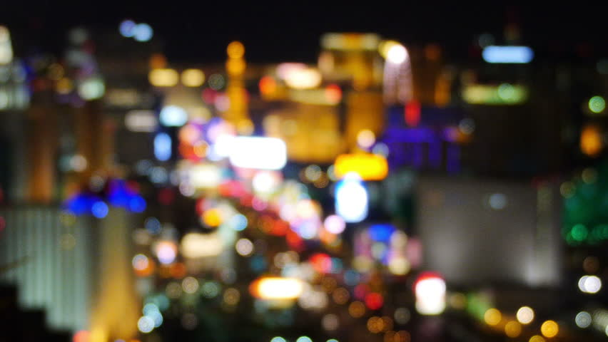 A blurred view of the Las Vegas Strip at night. | Shutterstock HD Video #6072452
