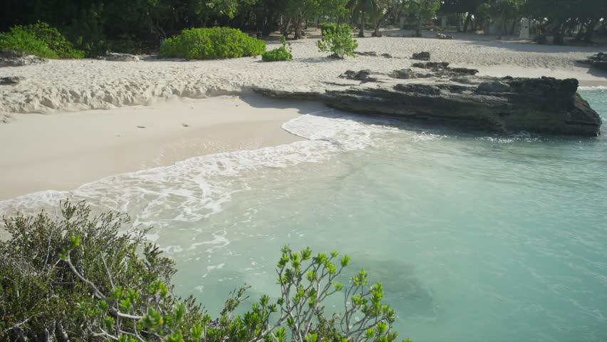 Aerial Grand Cayman, Sand beach - HD stock footage clip
