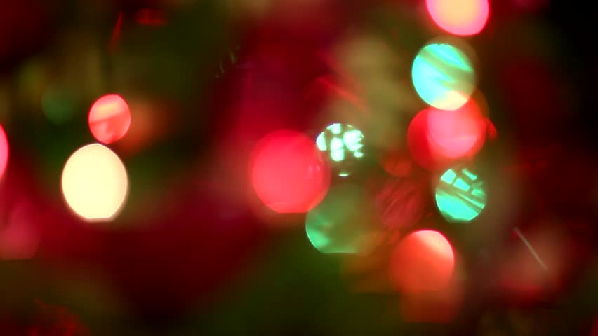 Abstract blurred Christmas background - HD stock video clip