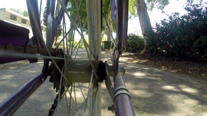Going by Bike, Low Angle View