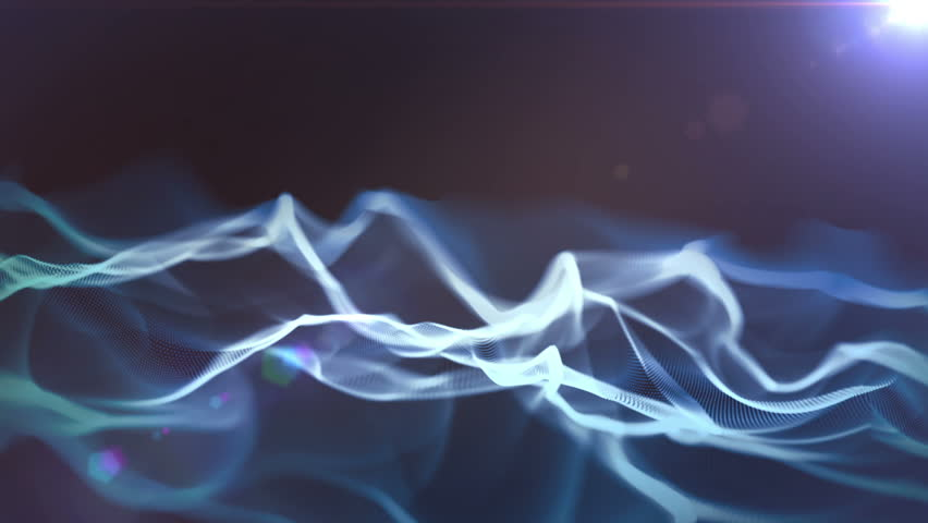 Abstract waves in darkness - HD stock footage clip