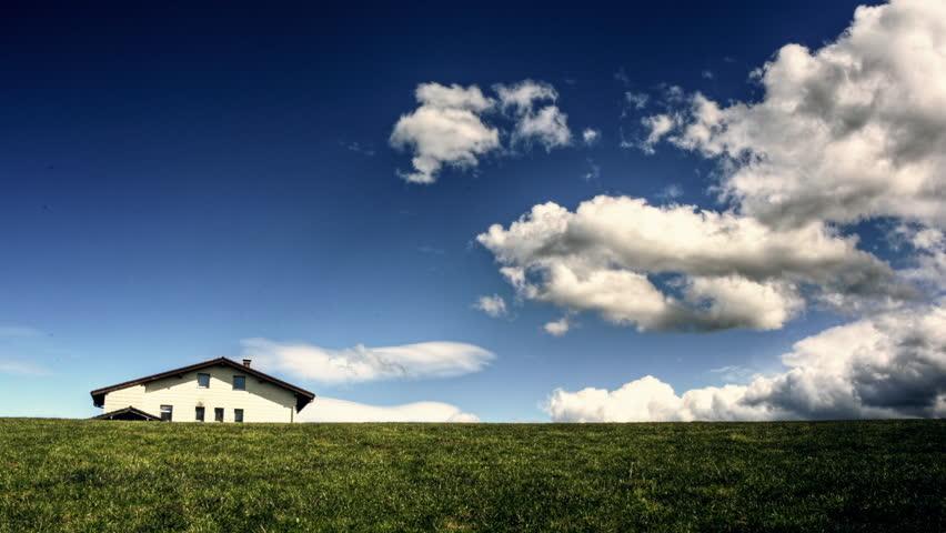 Animation Cartoon Is Rain, The Sky Big Gray Clouds, Heavy ...