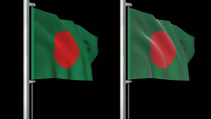 Bangladesh flags loop pack 3 in 1 with alpha screen and loop 7sec   Shutterstock HD Video #6156755