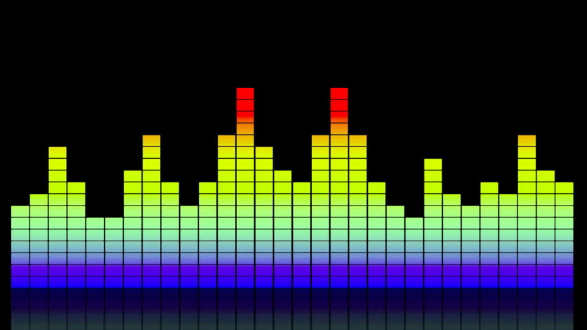 Volume Control Bar : Digital colorful music equalizer showing volume with