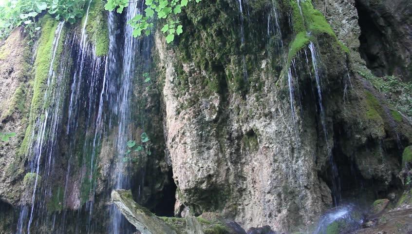 Waterfall in Carpathians - HD stock footage clip