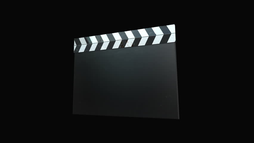 Clapperboard Film - Four Animations+Alpha .  Four Clapperboard animations