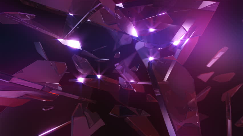 Loopable crystal glass. Abstract background