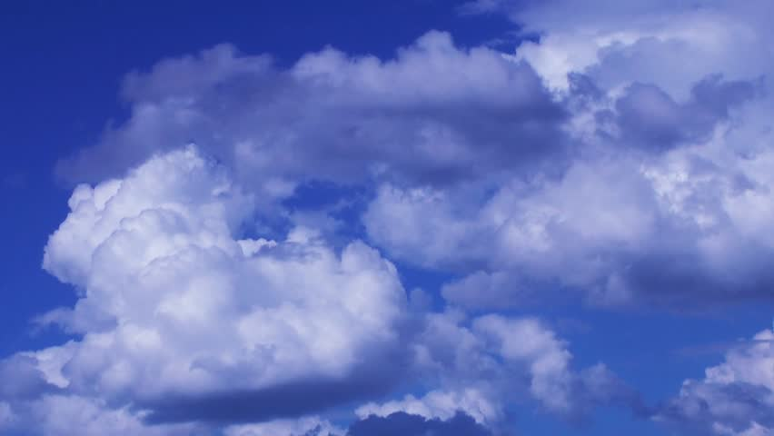 Beautiful cloudscape with large, building clouds - Timelapse - HD stock video clip