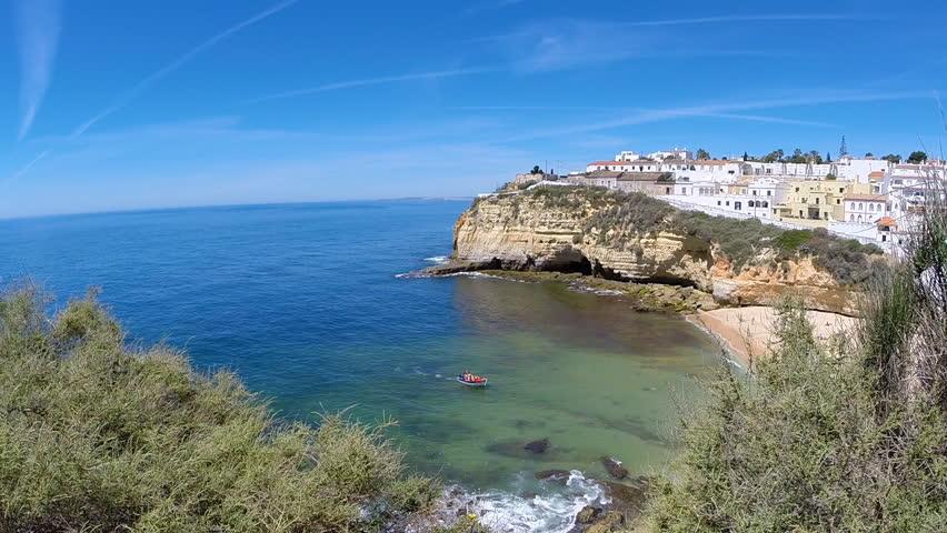 Carvoeiro, Algarve, Portugal - HD stock video clip